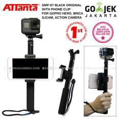 Attanta SMP-07 Original (Black) + Phone Clip for GoPro, Action Camera, DSLR, Smartphone, Camera Pocket, Mirrorless