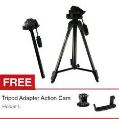 Attanta Tripod-Monopod TVM-2239 - Hitam, Free Holder L + Tripod Adapter GOPRO