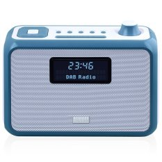 August MB400 - DAB / DAB + Radio With NFC Bluetooth Wireless Speaker, Alarm Clock And FM Tuner - Portable Radio And MP3 Player: SD Card Reader / 3.5mm Audio In - Compact Stereo System (Blue) - Intl