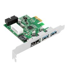 Aukey 2 Ports USB 3.0 + ESATA 3.0 + SATA 3.0 + 20 PCI-E Card Add On Cards (Intl)