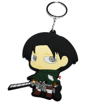 Aukey No Kyojin Attack On Titan Rivaille Key Ring Chain