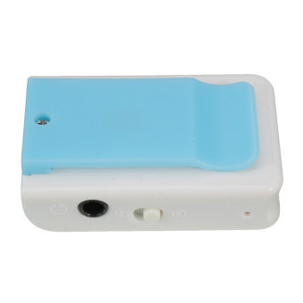 Autoleader Mirror Clip USB Digital Mp3 Music Player Maximum Support 8GB TF Card Blue