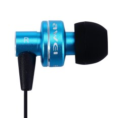 Awei ES - 900i Noise Isolation In-ear Earphone with 1.2m Cable Mic For Smartphone Tablet PC (Blue) (Intl)
