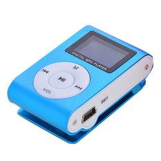 Azone LCD Mini FM Clip Mp3 Music Player (Blue)