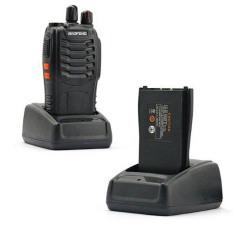 BAOFENG BF-888S UHF FM Transceiver Flashlight Two Way Radio (Black)