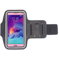 New Sports Gym Armband Arm Band Case Cover For Samsung Galaxy Note 4 (Black)