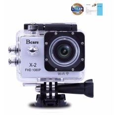 Bcare Action Camera - B-Cam X-2 WiFi- 12MP - Full HD - Waterproof 30m 2 inch - Silver