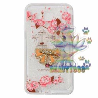 Beauty Case For Samsung Galaxy J2 Prime Prime Softshell SwarovskiAnimasi Vintage Bird + Holder Ring Tape