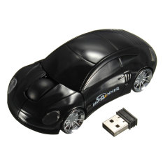 BESTRUNNER 2.4GHz Wireless USB Optical Car Mouse Mice Cordless For PC Laptop Black