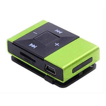 Bigskyie Mini USB Clip Digital Mp3 Music Player Support 8GB SD TF Card Green Free Shipping