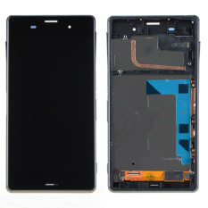 Black Touch Screen LCD Digitizer Display+Frame For Sony Xperia Z3 D6603- - intl