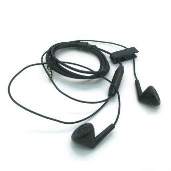 BlackBerry Original Earphone Stereo With Control Talk - Hitam