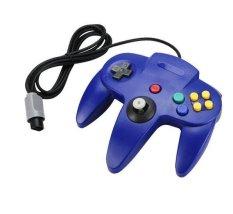 Blue Game Long Handle Controller Remote Joystick JoystickGame For Nintendo 64 - Intl