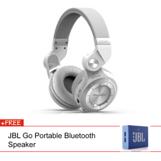 Bluedio T2 + Stereo Wireless Bluetooth 4.1 With Micro SD Slot (White) + JBL Speaker (Blue)