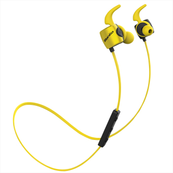 Bluedio TE Bluetooth 4.1 Wireless Sports Headphones Sweatproof Microphone (Yellow)