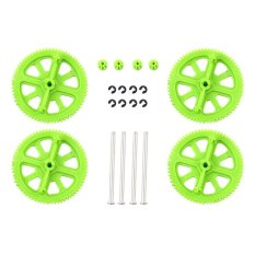 Bluelans Upgrade Motor Pinion Gear Gears And Shafts Replacement Blac For Parrot AR Drone 20-piece Set (Green)