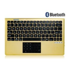 Bluetooth Keyboard With Touchpad Golden