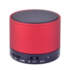Bluetooth Metal HiFi Handsfree Mic Bass Speaker for iPhone Red - intl