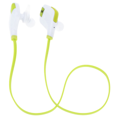 Bluetooth Mini Lightweight Neckband In-Ear Wireless Sport Stereo L Bluetooth Headset with Microphone (Green) (Intl)