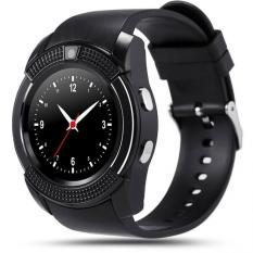 Bluetooth Smart Watch With SIM Card Slot Round IPS Camera Smartwatch For IOS And Android PK GT08 DZ09 U8 (Black)
