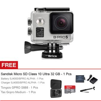 Brica Action Camera B-Pro 5 Alpha Edition - Silver + Gratis Sandisk Micro SD