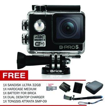 Brica Alpha Edition Mark II 4K (Black) + Sandisk 32gb + Tongsis SMP-09 + Hardcase Medium + Battery + Charger