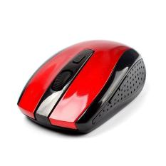 BUYINCOINS Red 2.4GHz Wireless Optical Mouse Mice + USB Receiver For PC Laptop Macbook