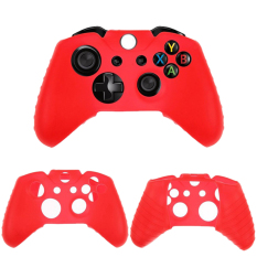 Buytra Silicone Rubber Gel Controller Skin Protective Cover For Microsoft Xbox One Red