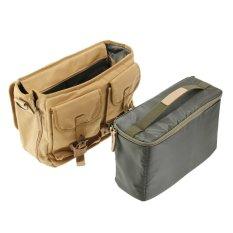 Caden F12 Vintage Waterproof Canvas Camera Shoulder Bag For DSLR Canon Nikon Sony Olympus Pentax (Khaki) (Intl)