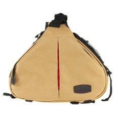 Caden K1 Waterproof Fashion Casual Triangle Camera Shoulder Bag For Canon Nikon Pentax DSLR (Khaki) (Intl)
