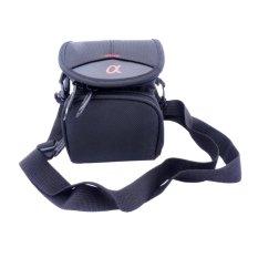 Camera Case Bag for Sony WX200 WX300 WX170 WX150 H100 H200 a5000 a5100 a6000 a6300 NEX-C3 NEX-3N NEX-5C NEX-5R NEX-6(Black) NEX-5N NEX-5T - intl