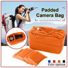 Camera Insert Bag Protect Package Case Partition Padded For DSLR SLR Lens