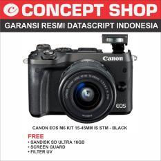 Canon EOS M6 Kit 15-45mm IS STM BLACK RESMI