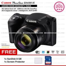 Canon PowerShot SX430 IS - WiFi 20MP 45x Optical Zoom (Resmi) + SanDisk 8gb + Screen Protector