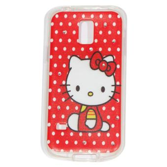 Cantiq Case Hello Kitty Shine Swarovsky For Samsung Galaxy S5 MiniG800F Ultrathin Jelly .