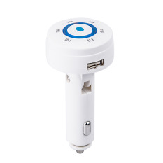 Car Kit MP3 Player Bluetooth Phone FM Transmitter For TF / MMC / USB Card White