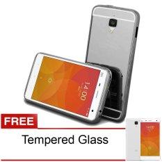 Case Aluminium Bumper Mirror Untuk Xiaomi Mi 4 - Hitam + Gratis Tempered Glass