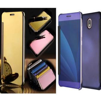 Case Executive Samsung Galaxy J7 Pro Flipcase Flip Mirror Cover S View Transparan Auto Lock Casing