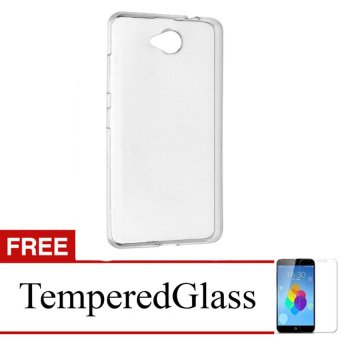Case for Nokia Lumia 540 - Clear + Gratis Tempered Glass - UltraThin Soft Case