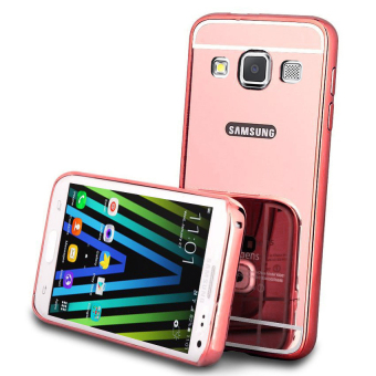 Case for Samsung Galaxy A3 2015 (A300) Alumunium Bumper With MirrorBackdoor Slide- Rose gold