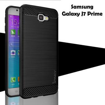 Jual Case For Samsung Galaxy J7 Prime Ipaky Softcase Premium Texture Carbon Fiber CF TPU Silikon - Hitam - Azora- di Lazada | OmJoni.com