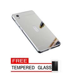Case For Vivo Y15 Bumper Slide Mirror Silver Free Tempered Glass .