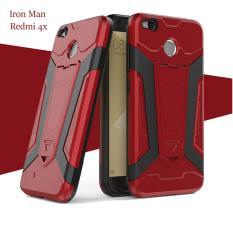 Case Iron Man for Xiaomi Redmi 4X Robot Transformer Ironman Limited - Merah