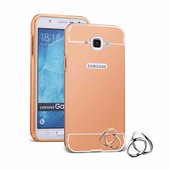 Case Metal for Samsung Galaxy J1 Mini Prime Aluminium Bumper WithMirror Backdoor Slide - Rose Gold