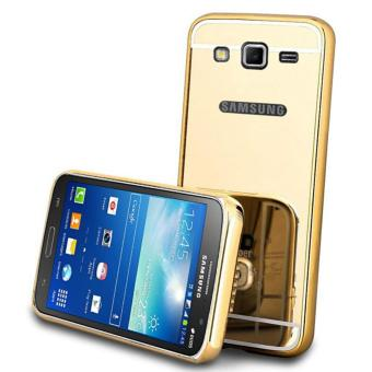 Case Metal for Samsung Galaxy J2 Prime Aluminium Bumper With MirrorBackdoor Slide - Gold