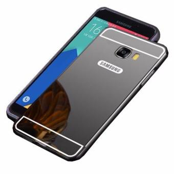 Case Metal for Samsung Galaxy J5 Prime Aluminium Bumper With Mirror Backdoor Slide - Black
