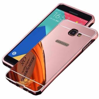 Case Metal for Samsung Galaxy J5 Prime Aluminium Bumper With MirrorBackdoor Slide - Rose Gold