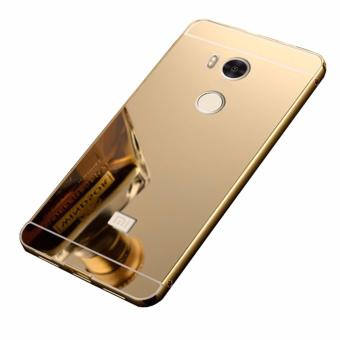 Case Metal for Xiaomi Redmi 4s Aluminium Bumper With MirrorBackdoor Slide - Gold