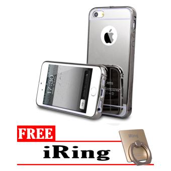Case Mirror Aluminium Bumper For Apple iPhone 4 / 4s - iRing +Black