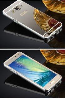Case Samsung Galaxy Grand 2 7106 Alumunium Bumper With Mirror Backdoor Slide Silver .
